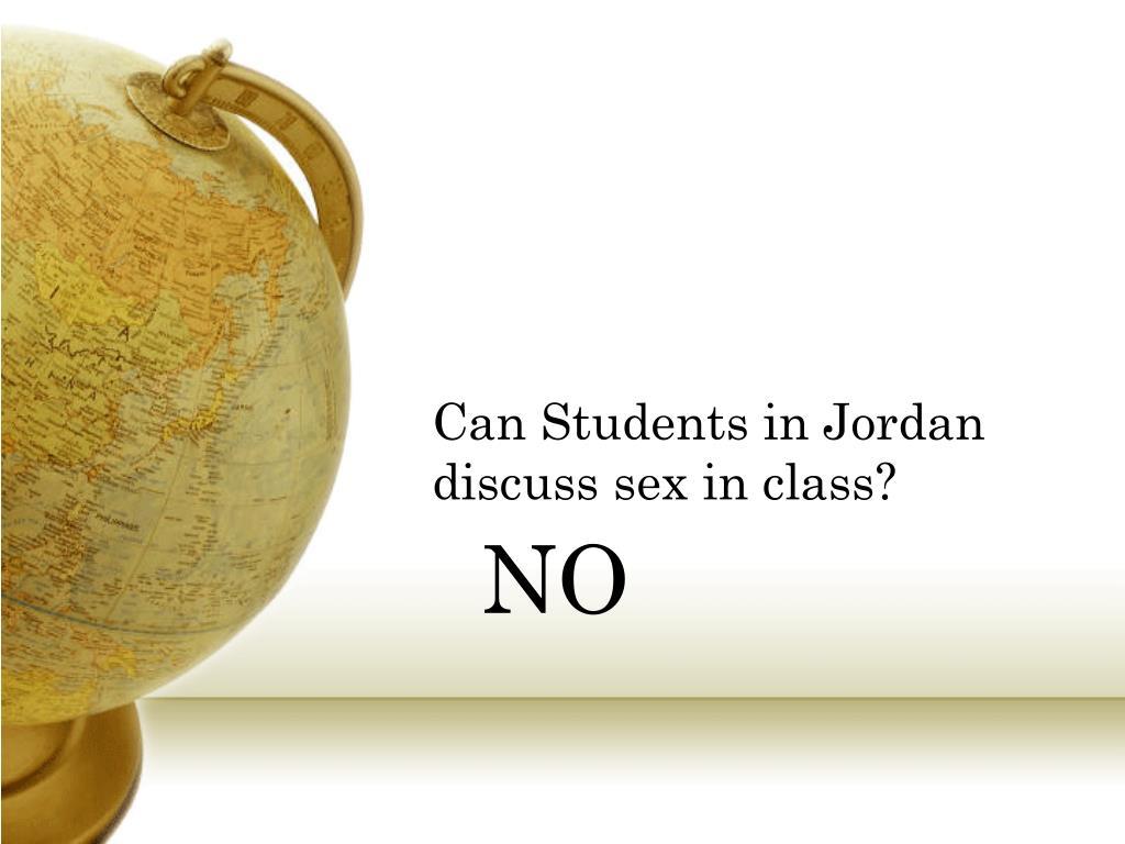Can Students in Jordan discuss sex in class?