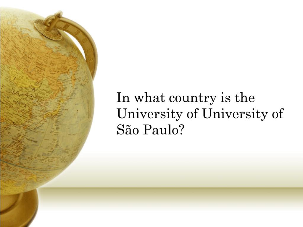 In what country is the University of University of São Paulo?
