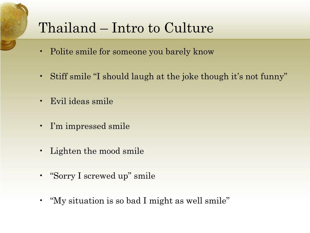 Thailand – Intro to Culture