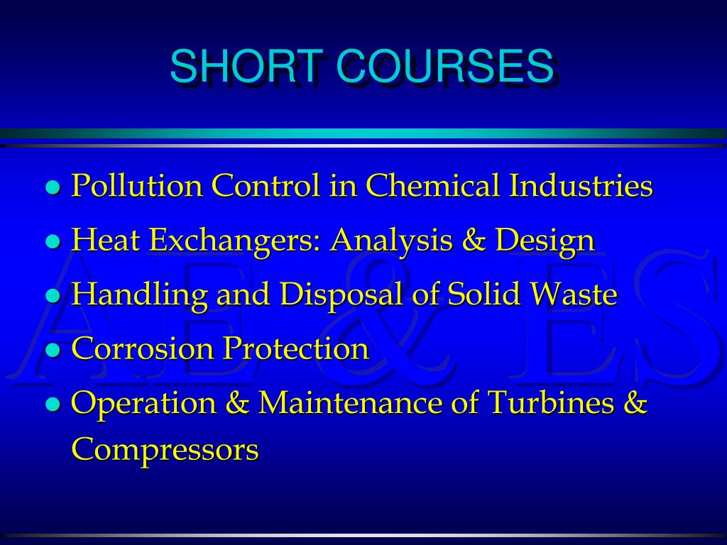 Pollution Control in Chemical Industries