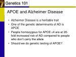 apoe and alzheimer disease