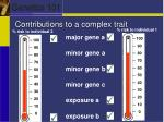 contributions to a complex trait