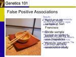 false positive associations
