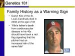 family history as a warning sign