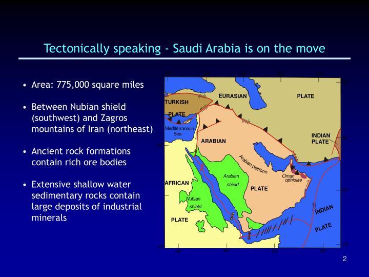 Tectonically speaking saudi arabia is on the move