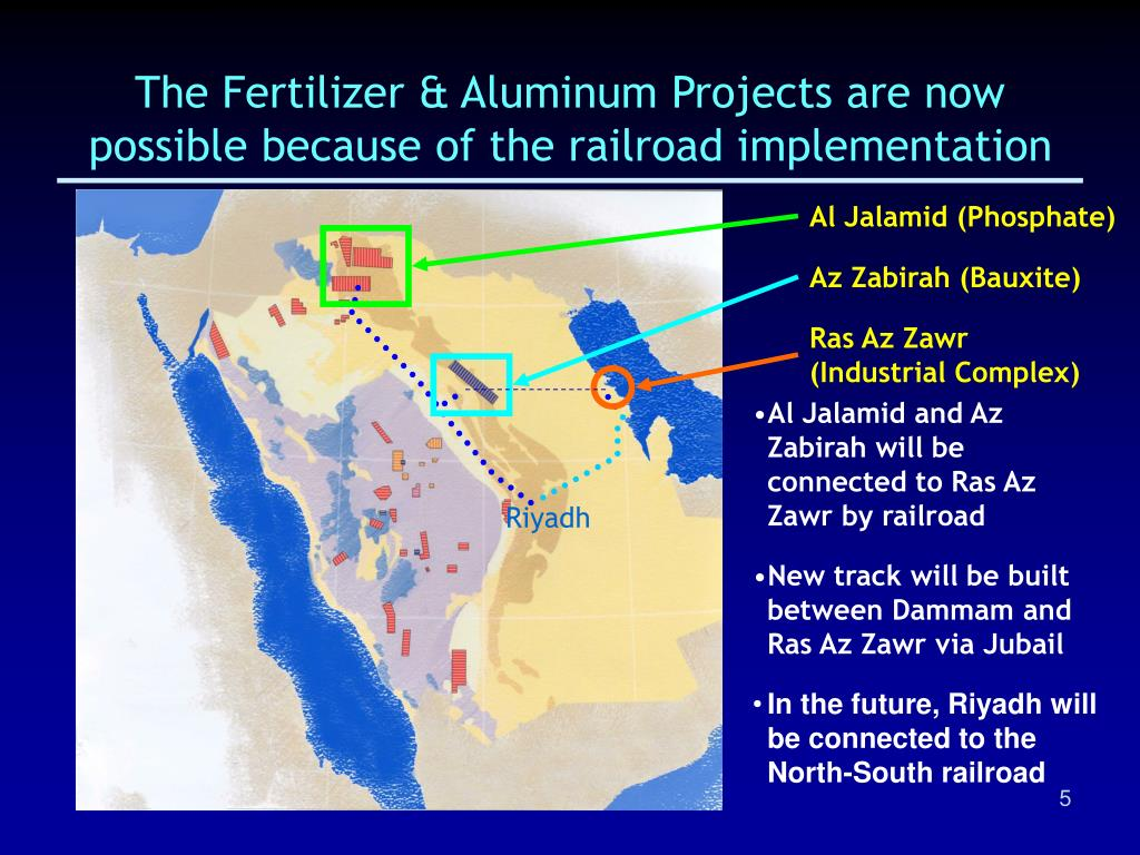 The Fertilizer & Aluminum Projects are now possible because of the railroad implementation