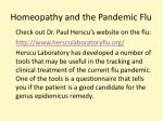 homeopathy and the pandemic flu1