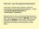 how do i use the physical keynotes