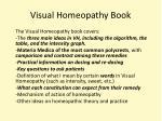 visual homeopathy book