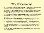 why homeopathy