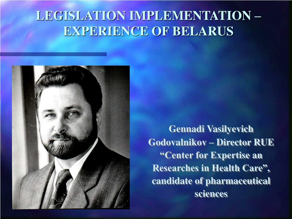 legislation implementation experience of belarus l.