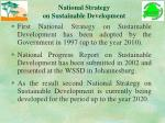 national strategy on sustainable development