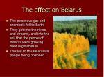 the effect on belarus