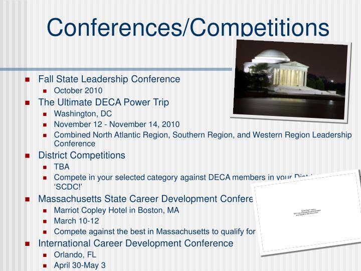 Conferences/Competitions