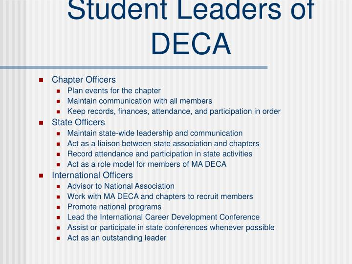Student Leaders of DECA