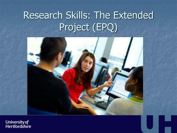 research skills the extended project epq n.
