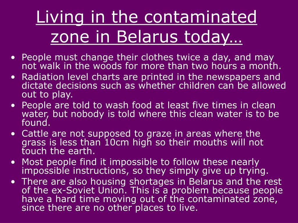 Living in the contaminated