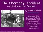 the chernobyl accident and its impact on belarus