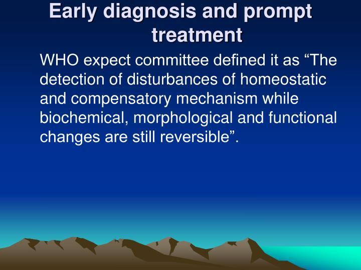 diagnosis and treatment essay
