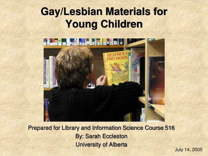 gay lesbian materials for young children n.