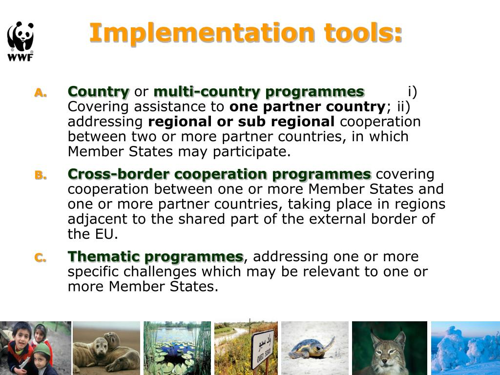 Implementation tools:
