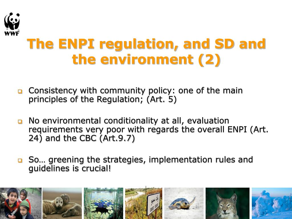 The ENPI regulation, and SD and the environment (2)