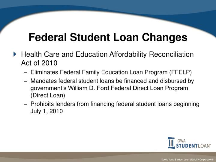 Federal Student Loan Changes