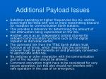 additional payload issues