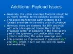 additional payload issues1