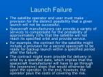launch failure