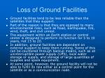 loss of ground facilities