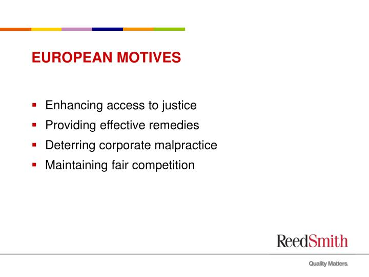 EUROPEAN MOTIVES