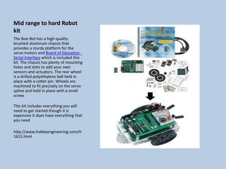 Mid range to hard Robot kit