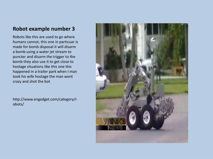 Robot example number 3