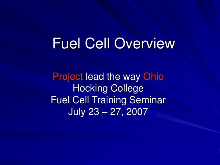 fuel cell overview n.