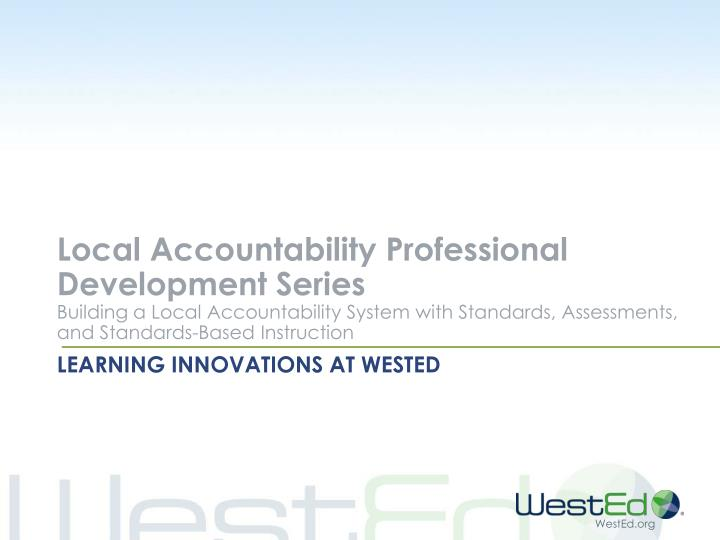 learning innovations at wested n.
