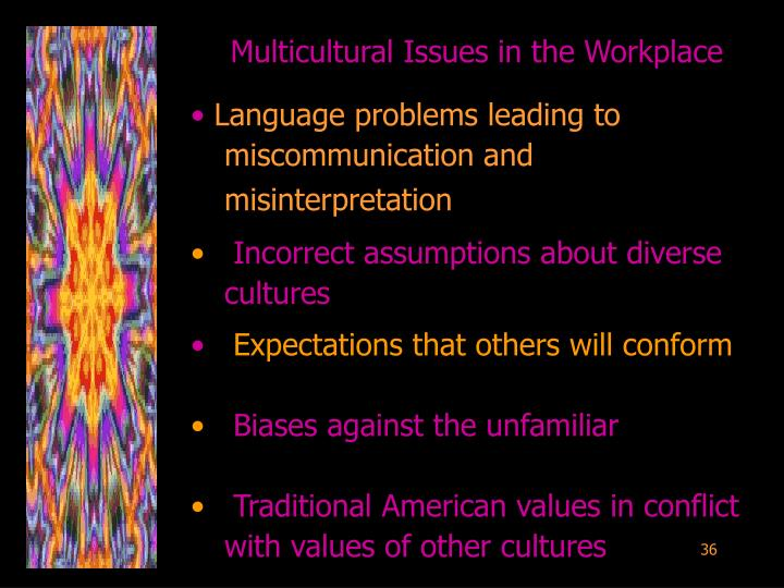 Multicultural Issues in the Workplace