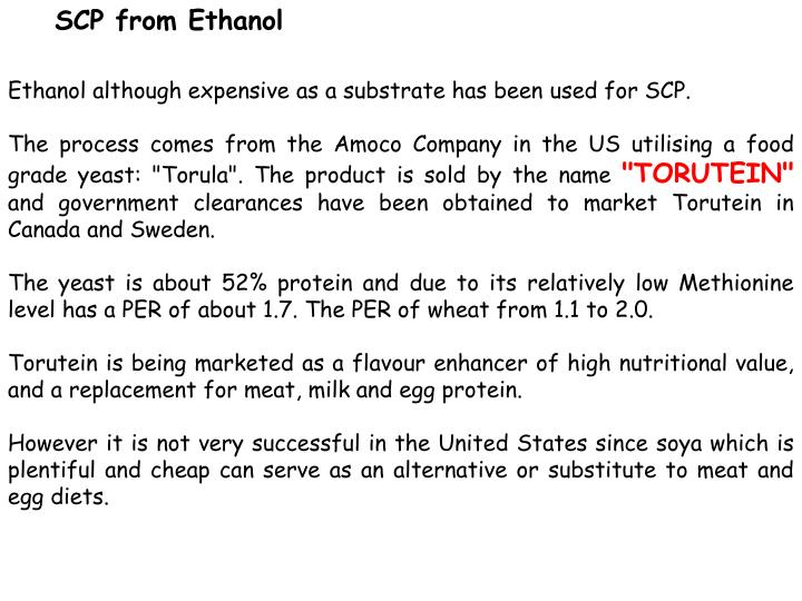 SCP from Ethanol