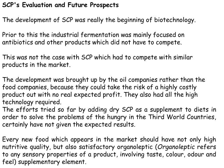 SCP's Evaluation and Future Prospects