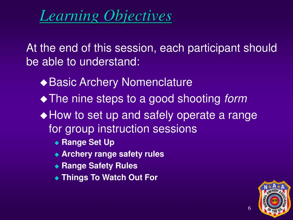 At the end of this session, each participant should be able to understand: