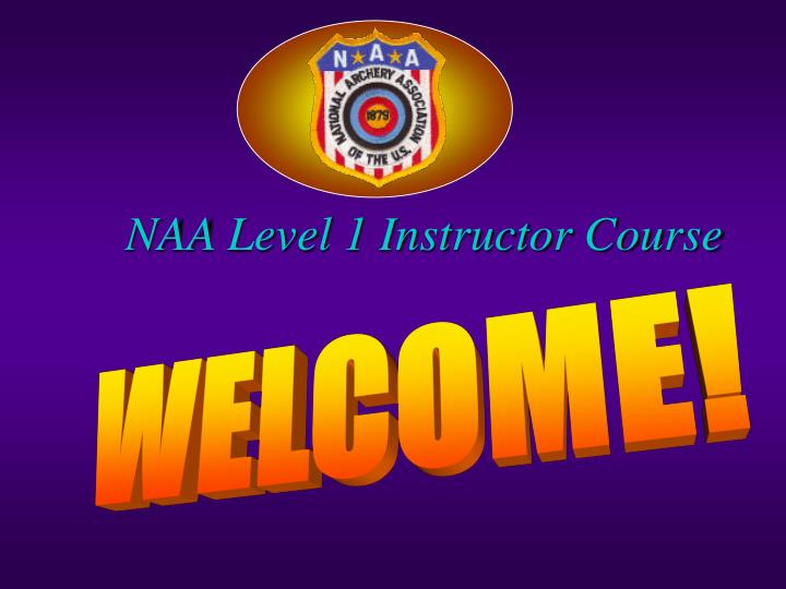 Naa level 1 instructor course