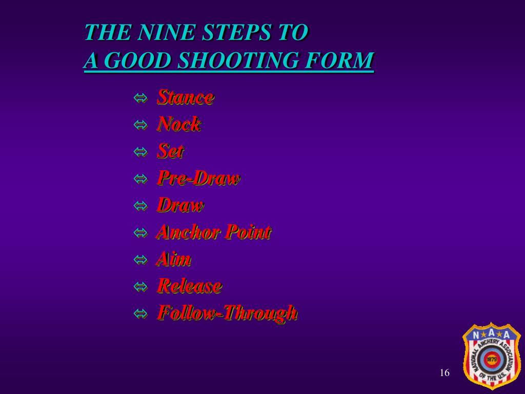 THE NINE STEPS TO