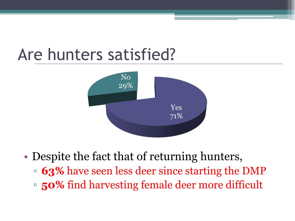 Are hunters satisfied?