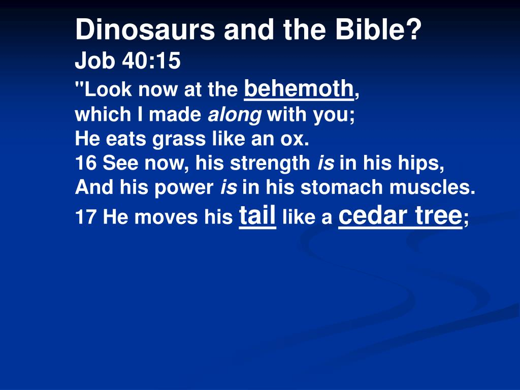 Dinosaurs and the Bible?