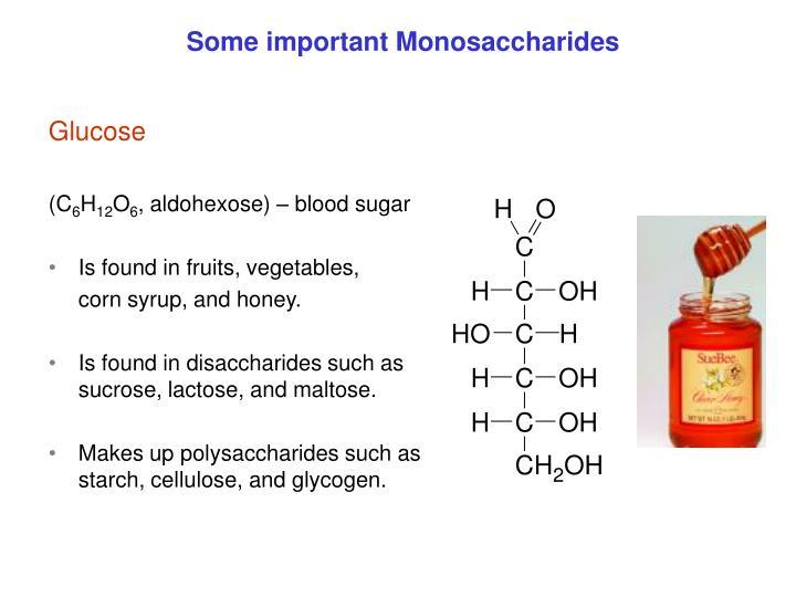 Some important Monosaccharides