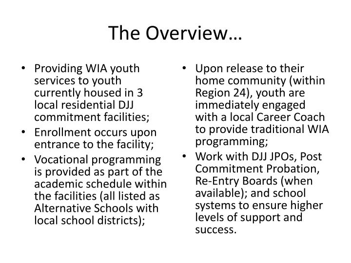 PPT - Serving DJJ & Foster Care Youth PowerPoint