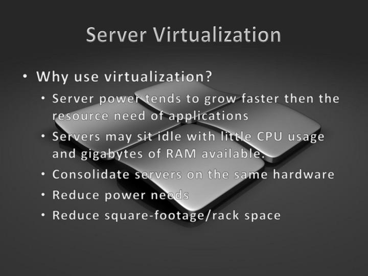 Server virtualization1