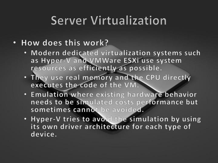 Server Virtualization