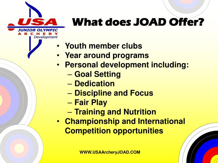 What does joad offer