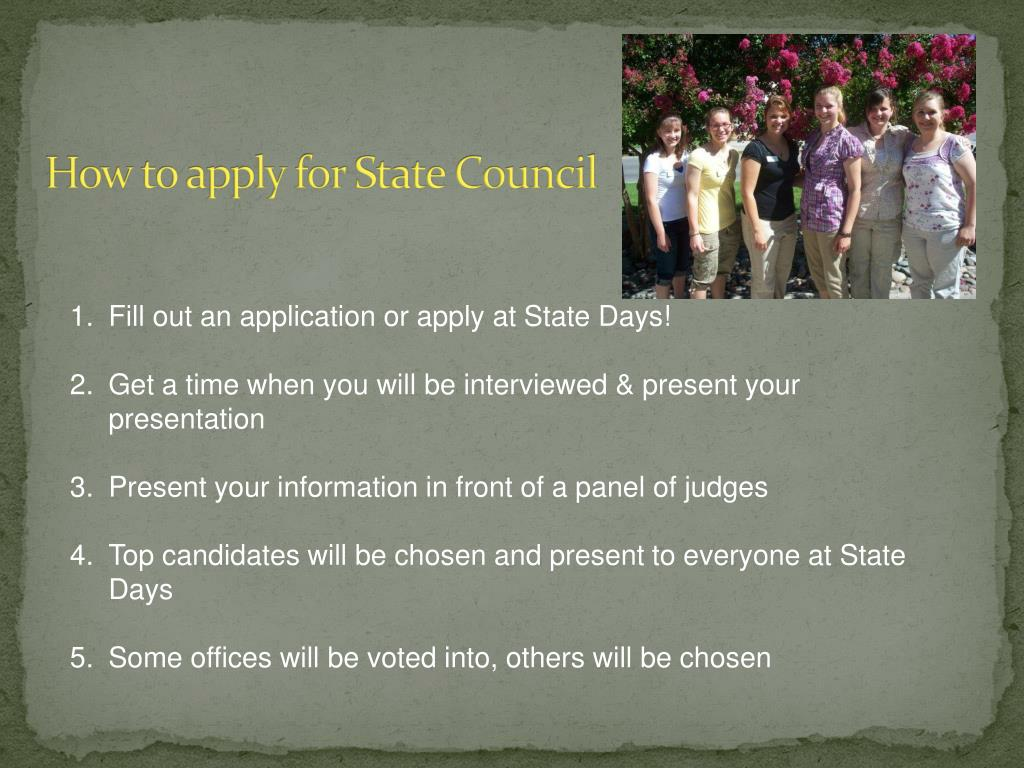 How to apply for State Council
